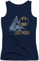 Batman juniors tank top Knight Watch navy
