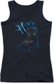 Batman juniors tank top Lightning Strikes black