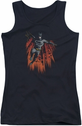 Batman juniors tank top Majestic black