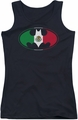 Batman juniors tank top Mexican Flag Shield black