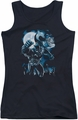 Batman juniors tank top Moonlight Bat black
