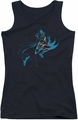 Batman juniors tank top Neon Batman black