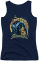 Nightwing juniors tank top Moon navy
