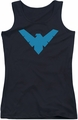 Nightwing juniors tank top Nightwing black
