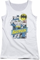 Batman juniors tank top Out Of The Pages white