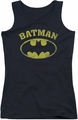 Batman juniors tank top Over Symbol black
