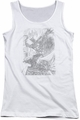 Batman juniors tank top Pencil Batarang Throw white