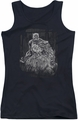 Batman juniors tank top Pencilled Rain black