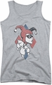 Harley Quinn juniors tank top Profiling athletic heather