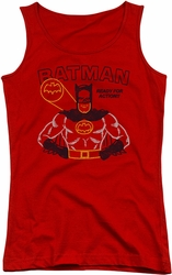 Batman juniors tank top Ready For Action red