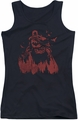 Batman juniors tank top Red Knight black