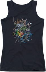 Batman juniors tank top Saints And Psychos black