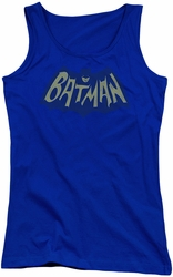 Batman juniors tank top Show Bat Logo royal