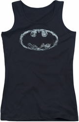 Batman juniors tank top Smoke Signal black