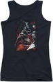 Batman juniors tank top Sparks Leap black