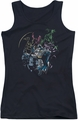 Batman juniors tank top Surrounded black