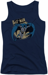 Batman juniors tank top Through The Night navy