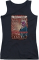 Two-Face juniors tank top Two Faces black