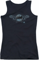 Batman juniors tank top Two Gargoyles Logo black
