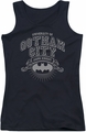 Batman juniors tank top University Of Gotham black