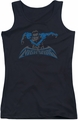 Nightwing juniors tank top Wing Of The Night black