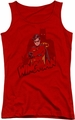 Batman juniors tank top Wingman red