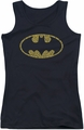 Batman juniors tank top Word Logo black