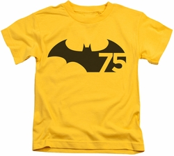 Batman kids t-shirt 75 Logo yellow