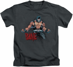 Batman kids t-shirt Bane Flex charcoal