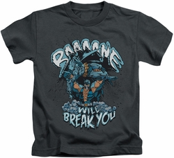 Batman kids t-shirt Bane Will Break You charcoal