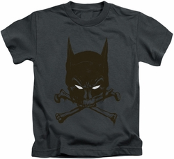 Batman kids t-shirt Bat And Bones charcoal
