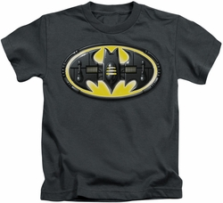 Batman kids t-shirt Bat Mech Logo charcoal