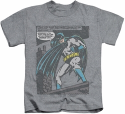 Batman kids t-shirt Bat Origins athletic heather
