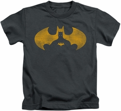 Batman kids t-shirt Bat Symbol Knockout charcoal