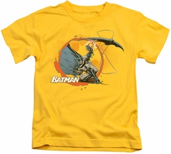 Batman kids t-shirt Batarang Shot yellow