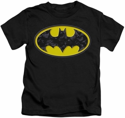 Batman kids t-shirt Bats In Logo black