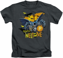 Batman kids t-shirt Bats Welcome charcoal