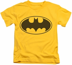 Batman kids t-shirt Black Bat yellow