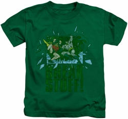 Batman kids t-shirt Break Stuff kelly green