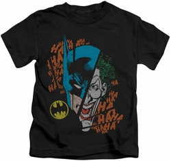 Batman kids t-shirt Broken Visage black
