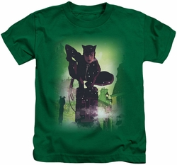 Batman kids t-shirt Catwoman #63 Cover kelly green
