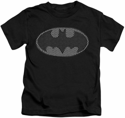 Batman kids t-shirt Chainmail Shield black