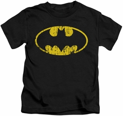 Batman kids t-shirt Classic Logo Distressed black