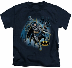 Batman kids t-shirt Collage navy