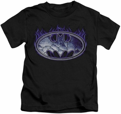 Batman kids t-shirt Cracked Shield black