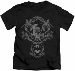 Batman kids t-shirt Dark Knight Heraldry black