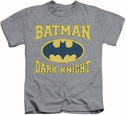Batman kids t-shirt Dark Knight Jersey heather