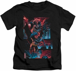 Batman kids t-shirt Dark Knight Panels black