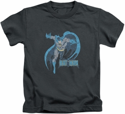 Batman kids t-shirt Desaturated charcoal