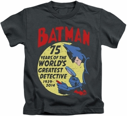 Batman kids t-shirt Detective 75 charcoal